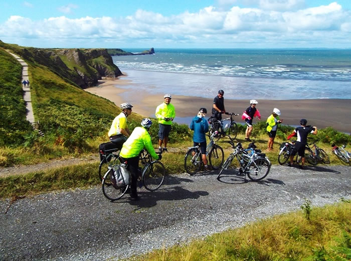 Cycling is is a great way to see the Gower countryside