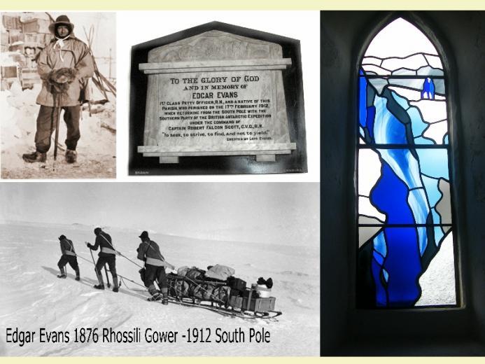 Edgar Evans Rhossili Church Gower - South Pole
