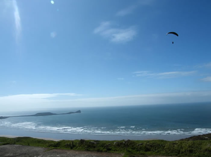 Hang Gliding on the Gower