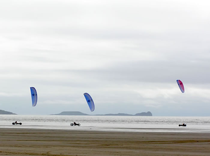 Kite Bugging at Pembrey