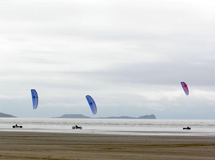 Kite Bugging at Pembrey
