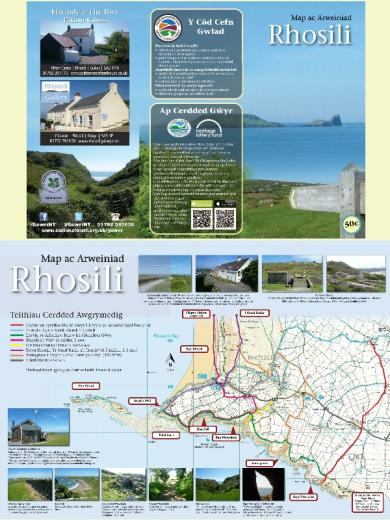 Local walking map in English and Welsh