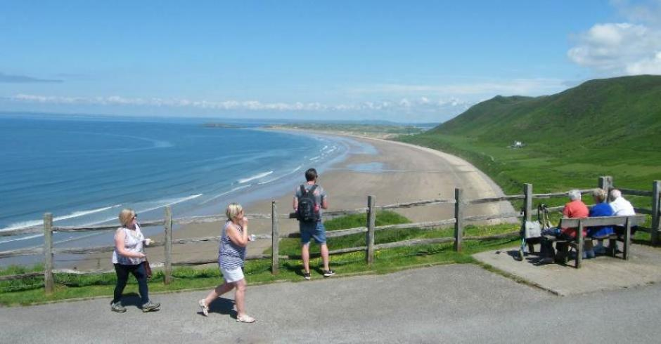 Rhossili beach Gower