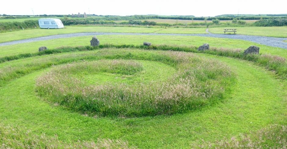 Stone circle Compass