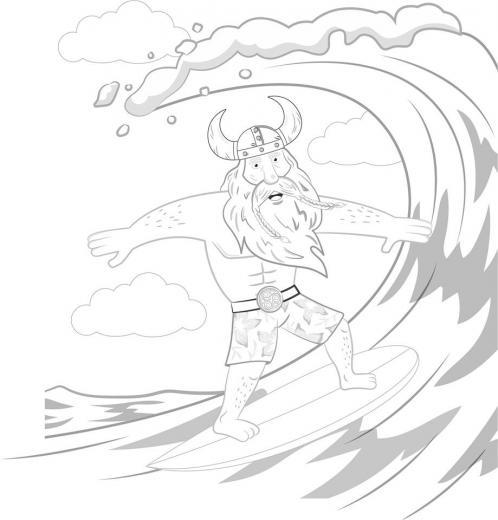 surfing viking rhossili gower