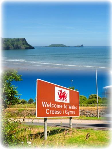 Croeso i Gymru (Croesoh ee Gum-reeh): Welcome to Wales